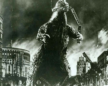 When Godzilla first appeared in 1954 he was no joke!