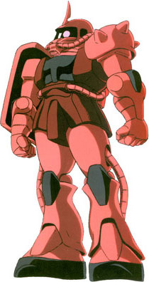 Chars Zaku II from Mobile Suit Gundam