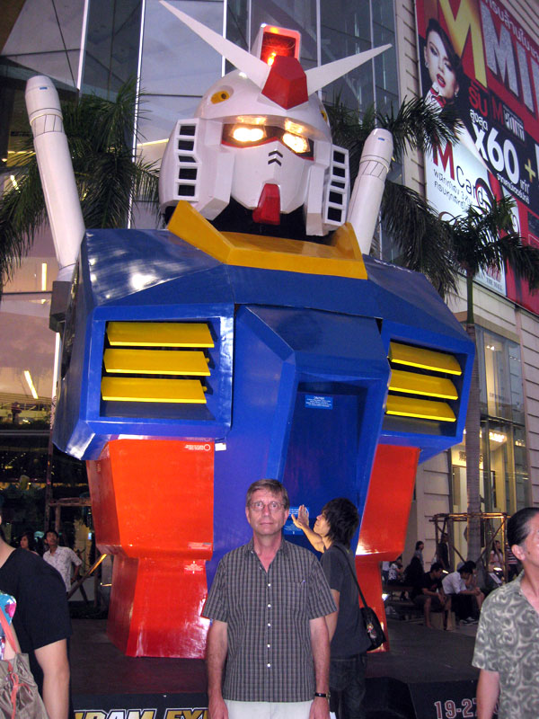 The RX-78-2 Gundam helps promote the event.