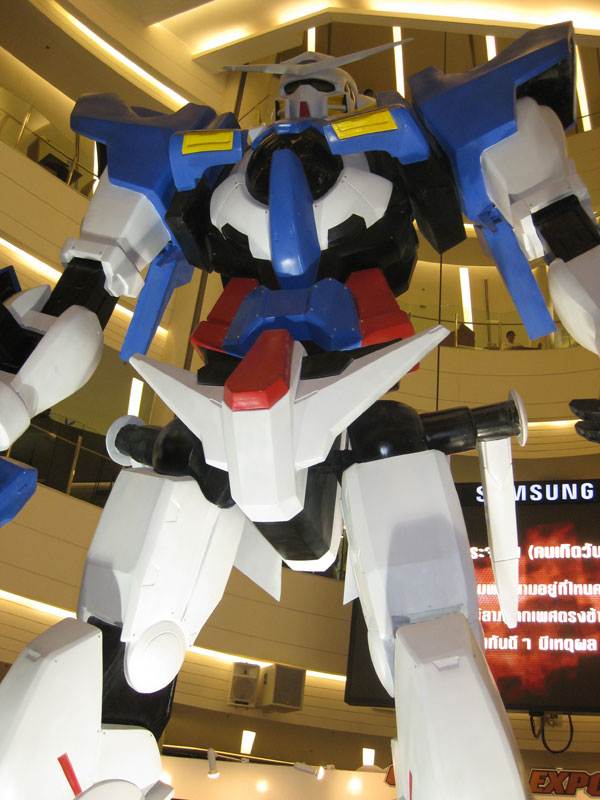 A huge model from Gundam 00 was on display.